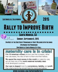 Speaker, 2015 Rally To Improve Birth - Los Angeles @ Third Street Promenade | Santa Monica | California | United States